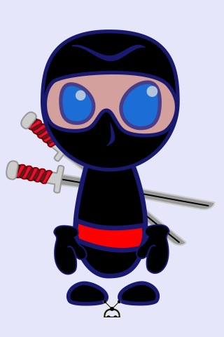 ninja drawing by Criistii using miniDraw