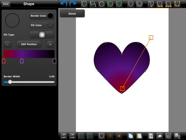 miniDraw-vector-graphics-app-for-iPAD-and-iphone
